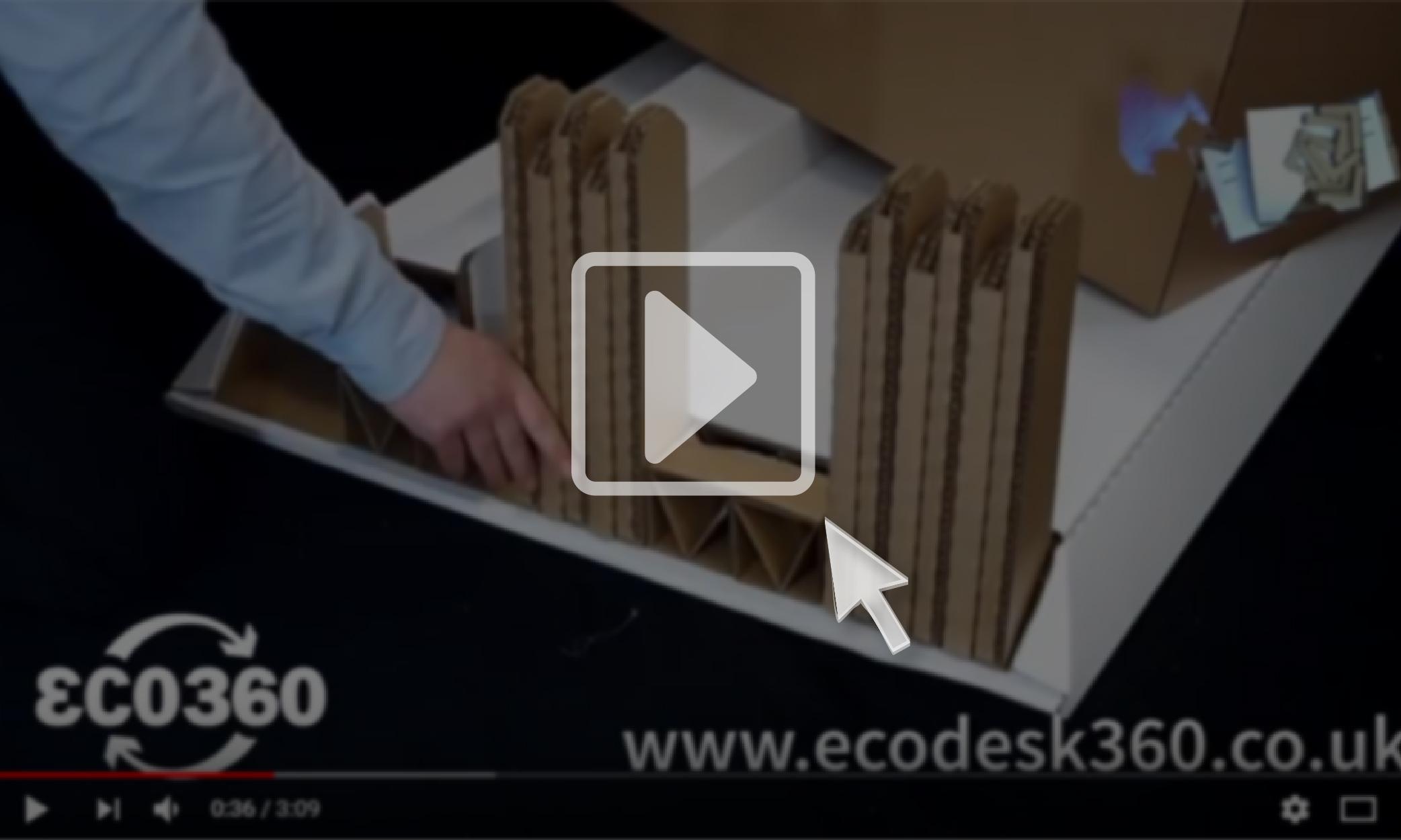 ECO360 cardboard desk assembly instruction video