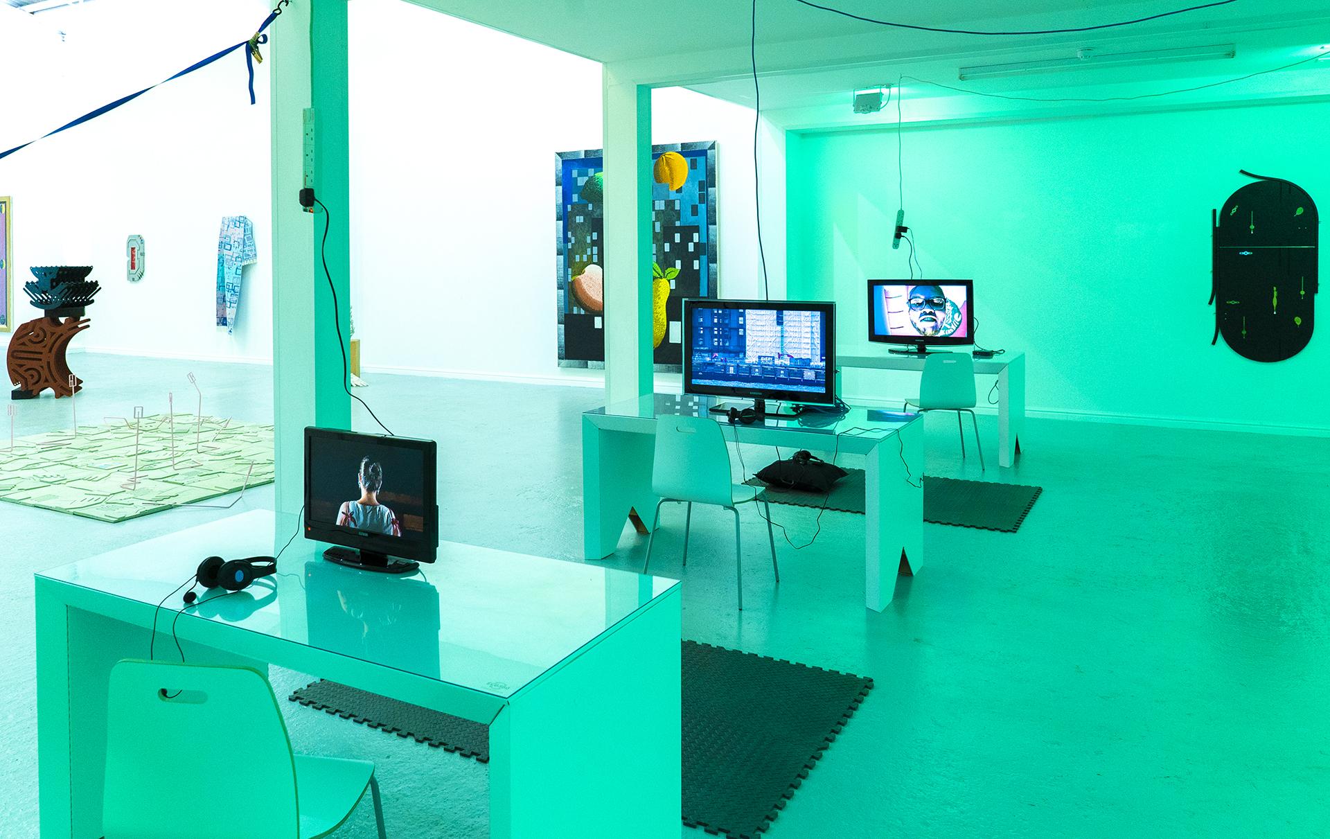 ECO360® sustainable cardboard desks displayed at London art exhibition