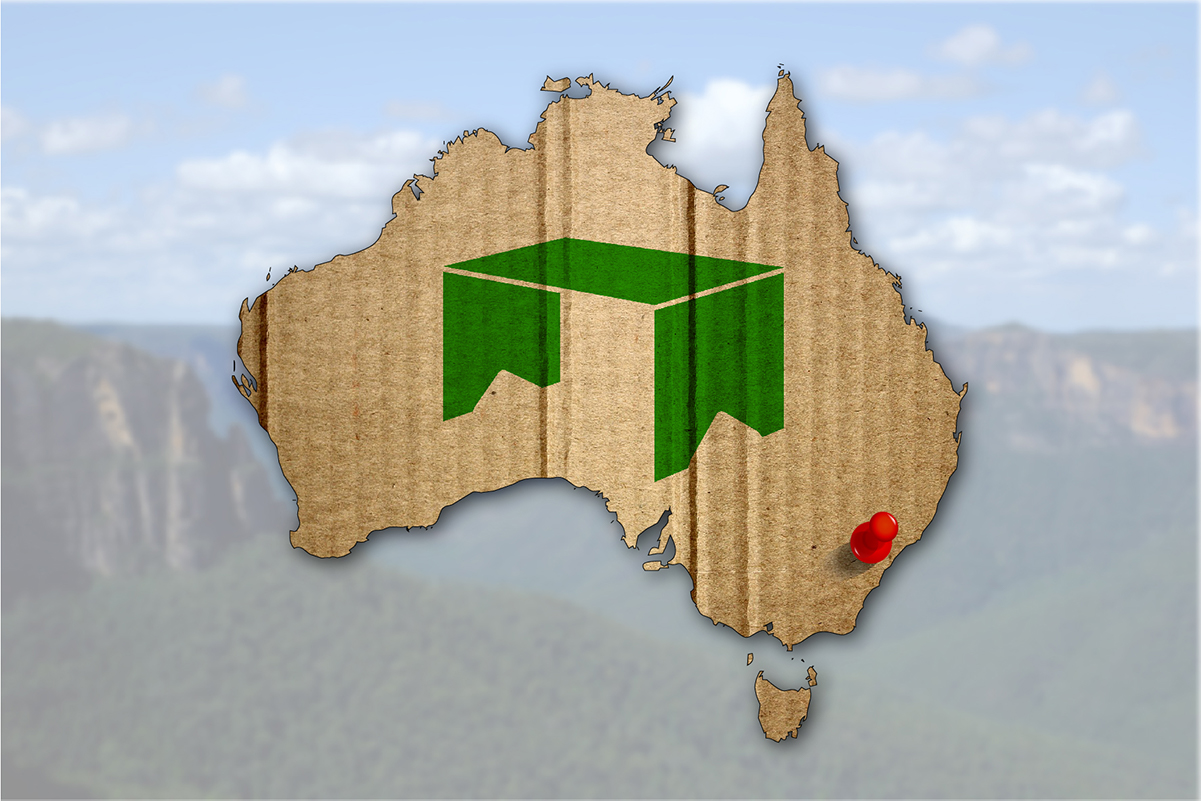 Cardboard desks going down well in Australia!
